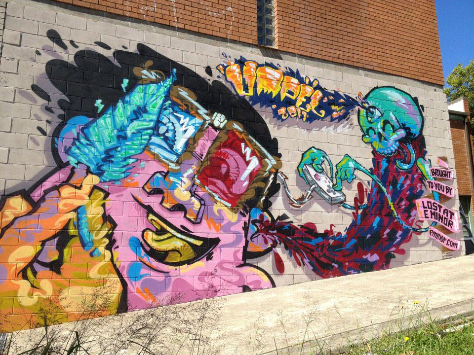 2011 SAW mural by Umpel for Lost at E Minor
